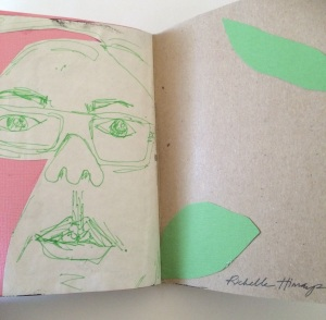 Sketchbook Project -self portrait by richelle himaya